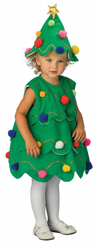 kinderkostüme mädchen weihnachtsbaum