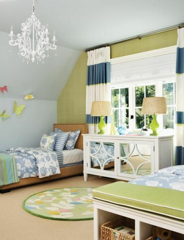kinderzimmer vorhänge moderne gardinen kronleuchter