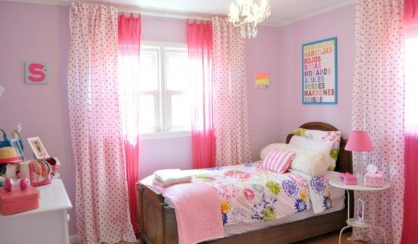kinderzimmer vorhänge moderne gardinen rosa pink prinzessin