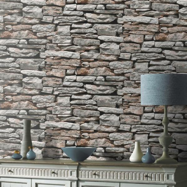 Wandverkleidung Holz Treppenhaus ~ Eine gelungene Kombination aus Holz und Kunststeinen im Treppenhaus