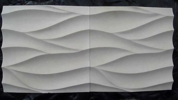 kunststein wandverkleidung weiß wellenförmig