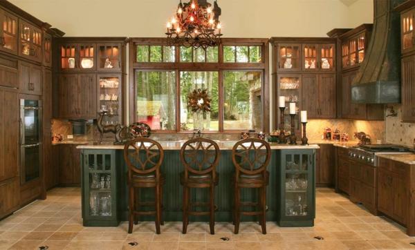 landhausmöbel kücheninsel barhocker