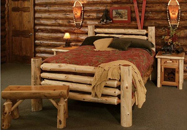 landhausmöbel naturholz doppelbett