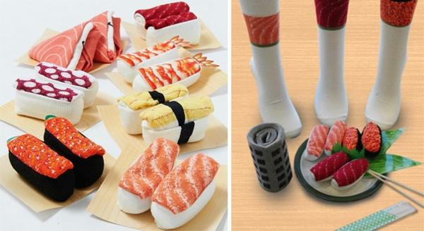 lustige  sushi geschenke für männer socken originell
