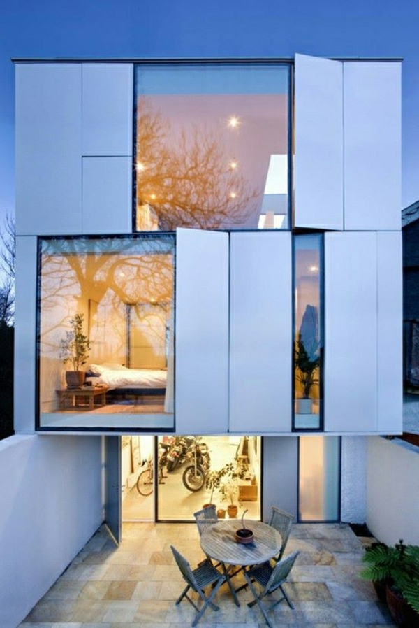 fertighäuser dreistöckig metallene paneelen