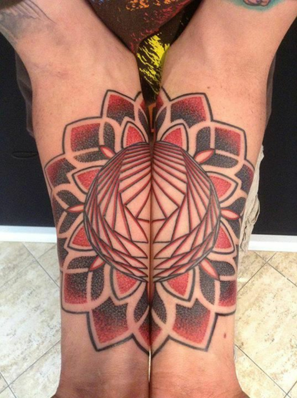 mandala tattoos design rot