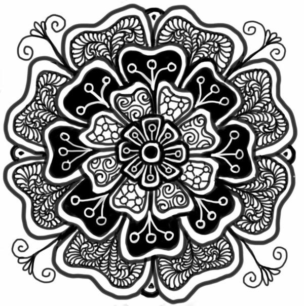 mandalas für erwachsene blume zeichnung