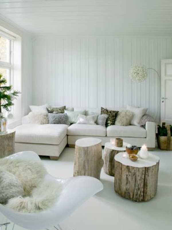 Affordable Massivholz Couchtische Aus Baumstamm Rustikal With Baumstamm Im  Wohnzimmer