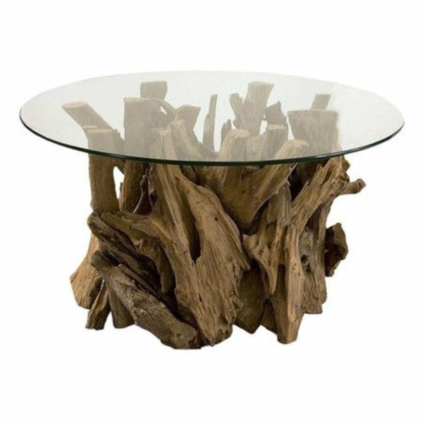 massivholz Couchtische aus Baumstamm tischplatte rund