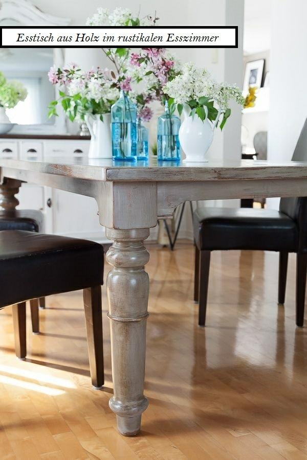 massivholzmöbel esszimmer einrichten esstisch rustikal echtholzmöbel