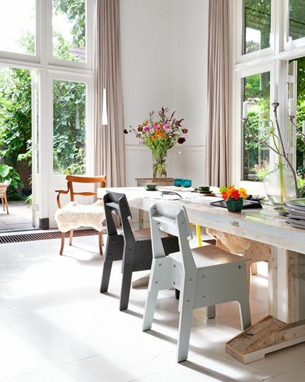 massivholzmöbel rustikaler esstisch esszimmer landhausstil