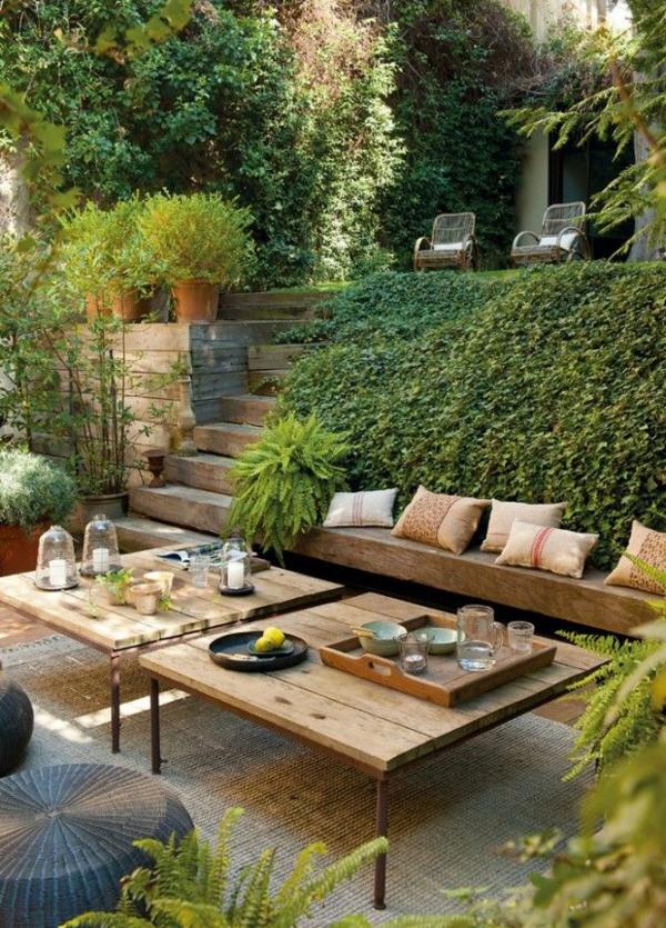 Sichtschutz Fur Runde Terrasse : Holz Europaletten M Bel F R Garten ...