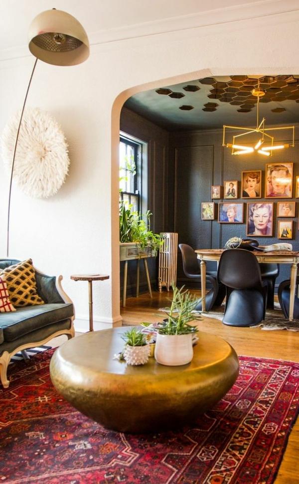 moderne lampen Designs Wohnzimmer messing