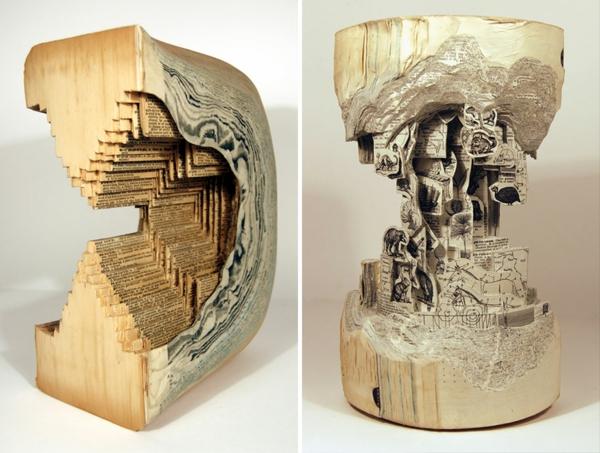 moderne skulpturen faszinierende welten aus b chern. Black Bedroom Furniture Sets. Home Design Ideas