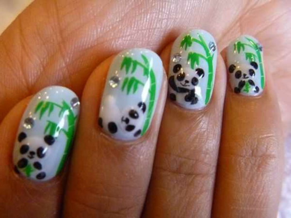 fingernägel design panda