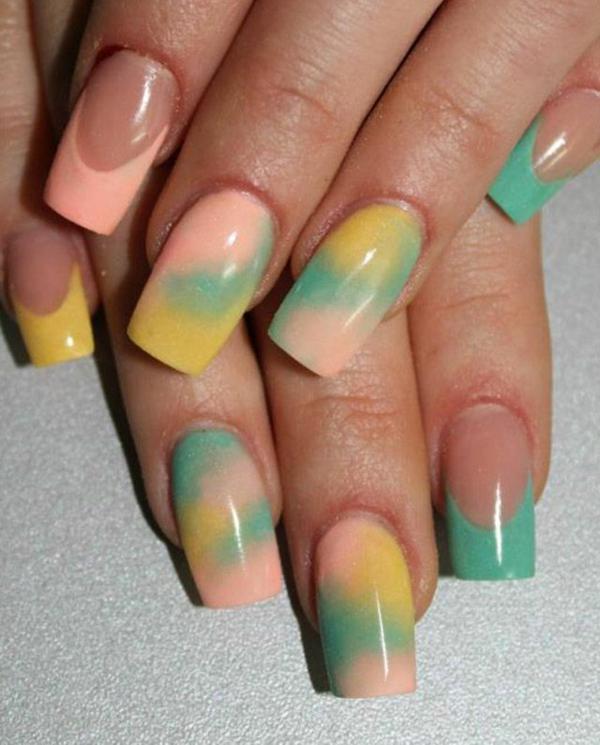 nagel design bilder galerie french nail art ombre efekt
