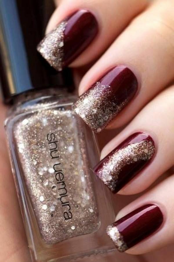 nagel design bildergalerie nail art design kirschenrot