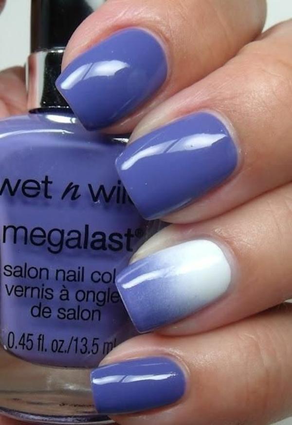 nageldesign bildergalerie nail art designs blau ombre efekt