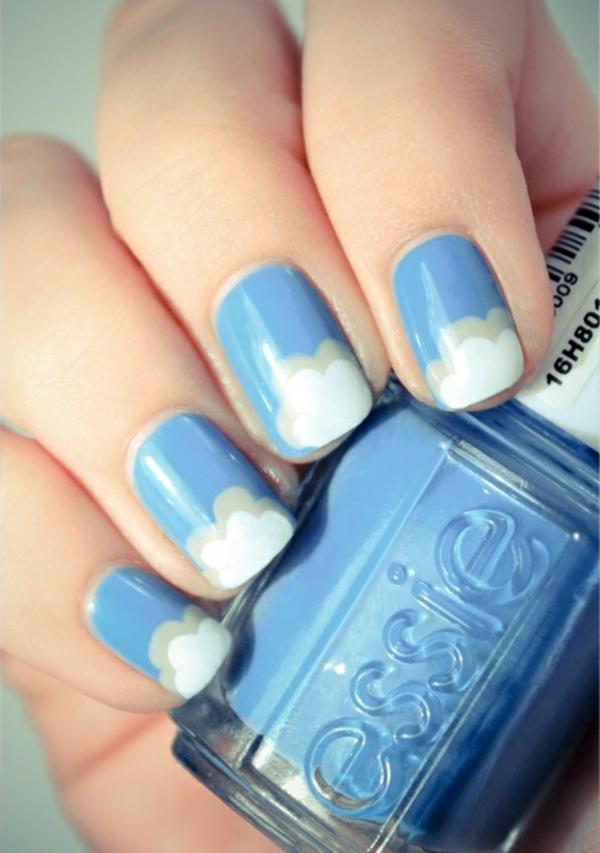 nagel design bildergalerie nail art designs blaue wolken