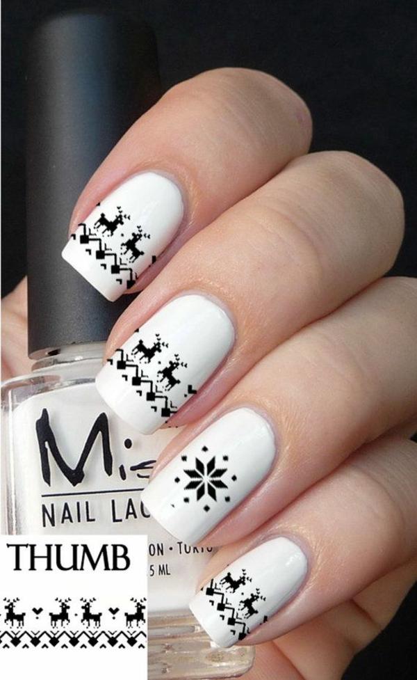 nageldesign bildergalerie nail art schwarz weiß