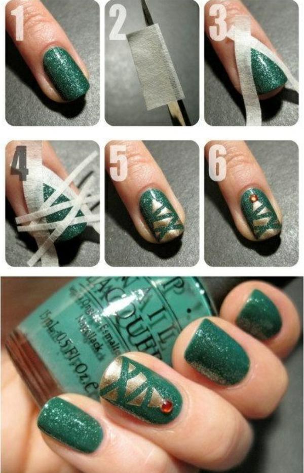 nagel design bildergalerie nail art weihnachten weihnachtsbaum