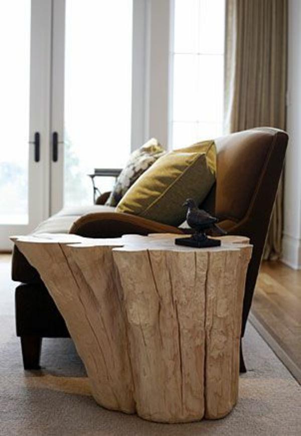 möbel eiche massiv möbel naturholz beistelltisch ideen sofa