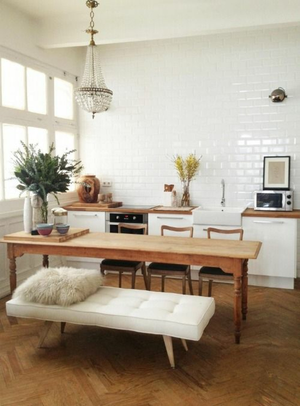 naturholzmöbel esszimmer landhausstil esstisch rustikal