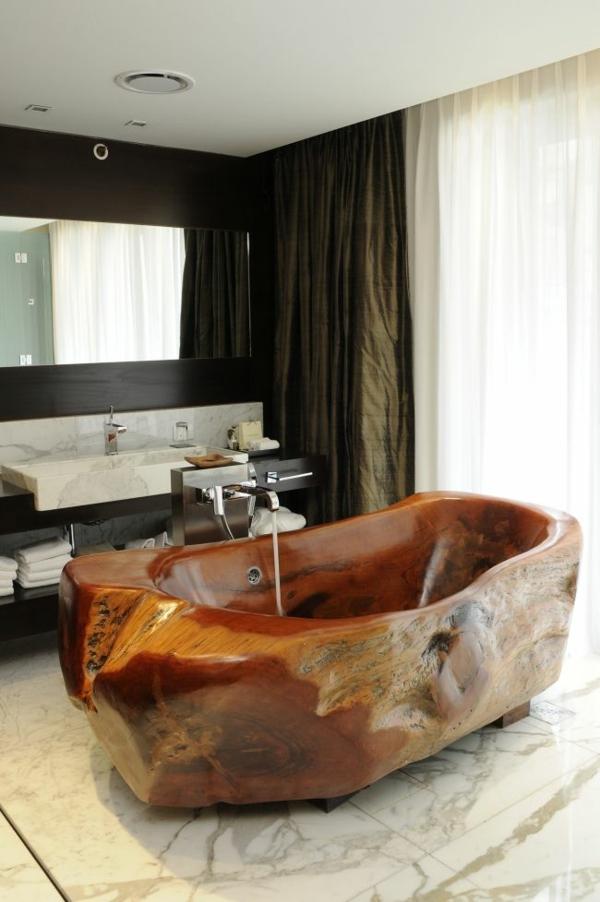 massivholz massivmöbel design badewanne naturholz