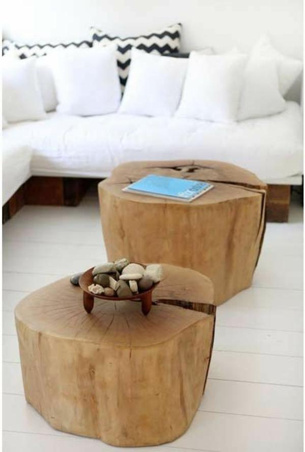 naturholz massivholz massivmöbel design baumstamm
