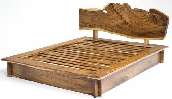 naturholz möbel massivmöbel design bett gestell