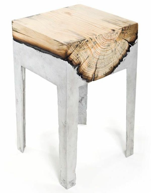 naturholzmöbel massivholz massivmöbel design klein beistelltisch