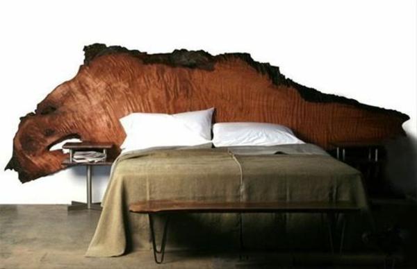 Naturholz Möbel Massivholz Massivmöbel Design Kopfteil Bett