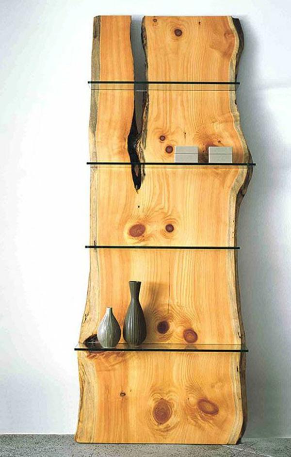 naturholzmöbel massivholz massivmöbel design wandregale