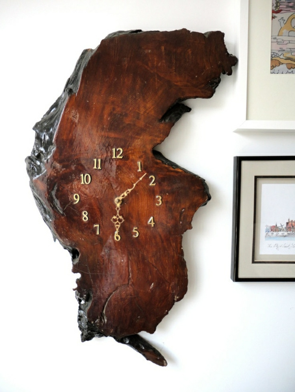 möbel massivholz massivmöbel design wanduhr naturholz