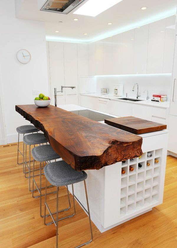 möbel tischplatte naturholz küche kochinsel