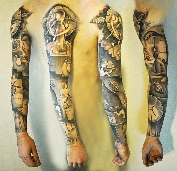 oberarm tattoo tribal blumen