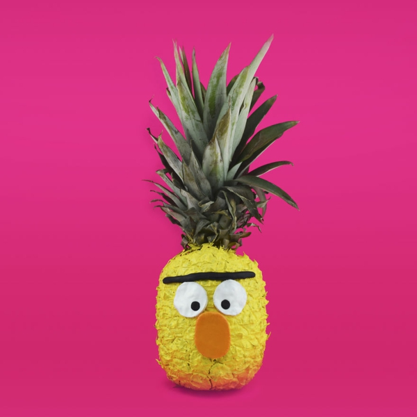 obst tiere ananas männchen bert