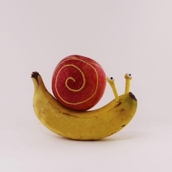 Obst Tiere  kunstvoll und witzig von Sandra Suarez