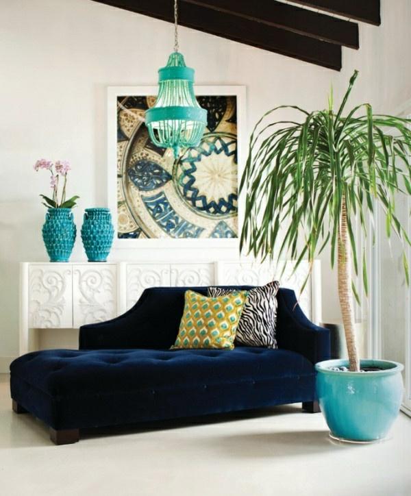 yucca dunkelblaue ottomane
