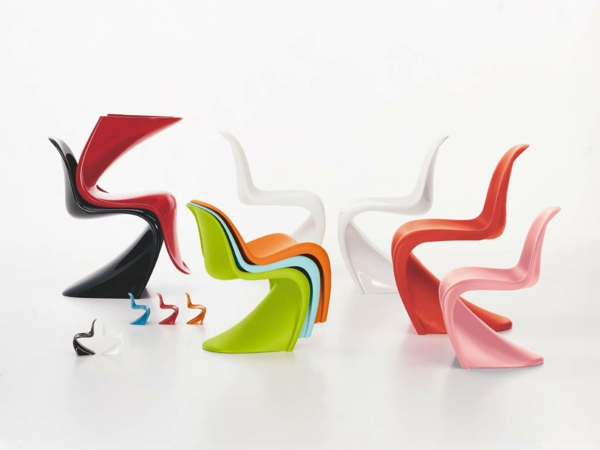 panton stuhl farbige designer stühle verner panton