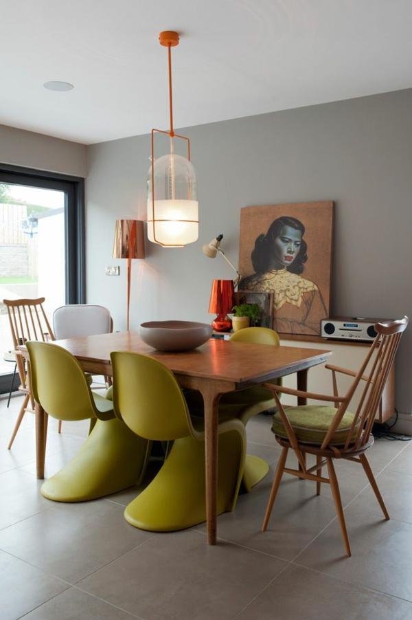panton chair grün designer stühle esszimmer möbel