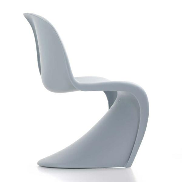 panton stuhl grau designer stühle danisch design möbel
