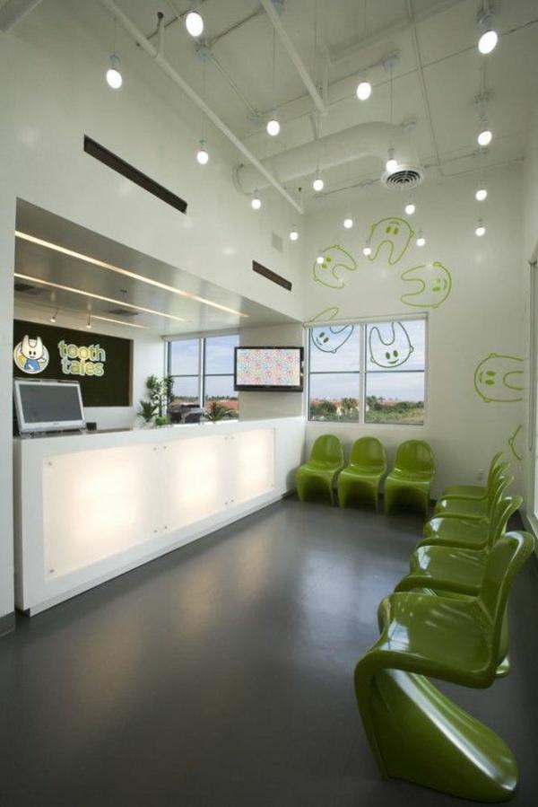 panton chair hellgrün designer stühle im wartezimmer