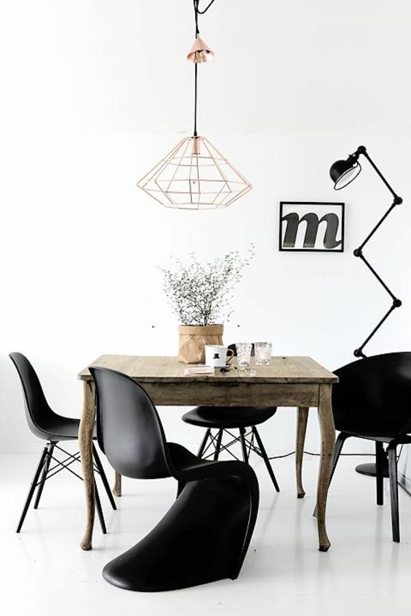 panton chair schwarz designer stühle esszimmer möbel