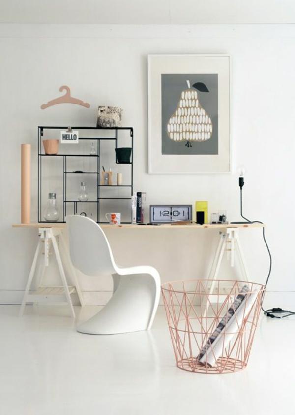 panton stuhl weiß designer stühle arbeitszimmer skandinavisch einrichten