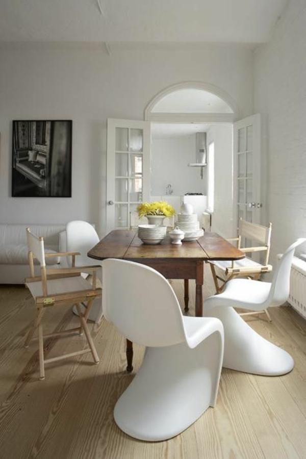 panton chair weiß designer stühle esszimmer möbel holzmöbel