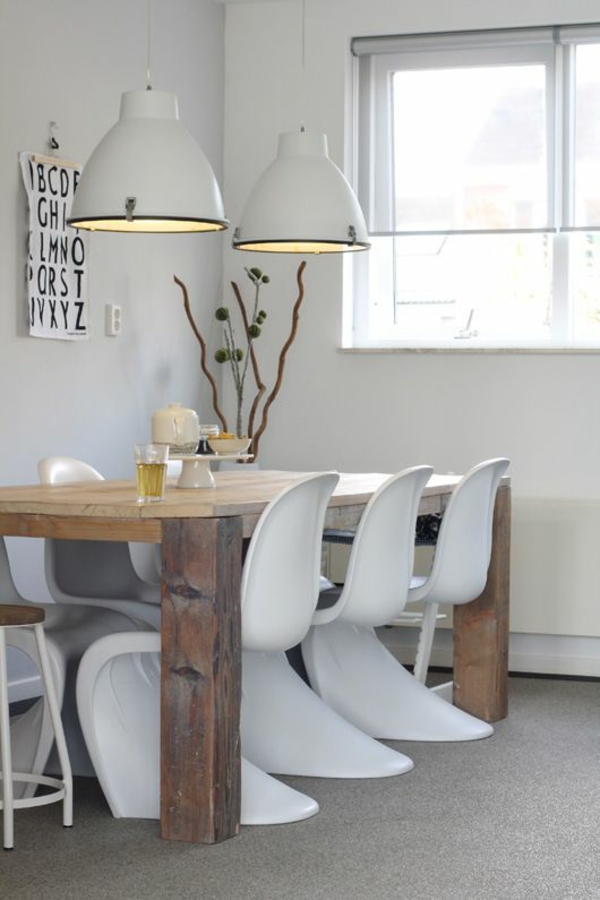 panton chair weiß designer stühle esszimmer möbel skandinavisches design
