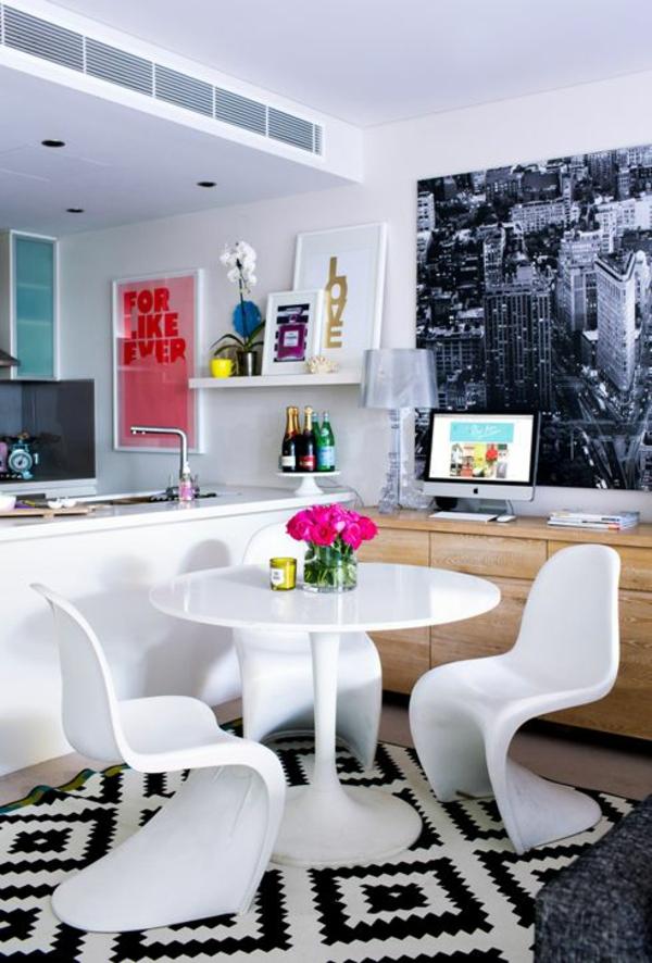 panton chair weiß designer stühle esszimmer möbel