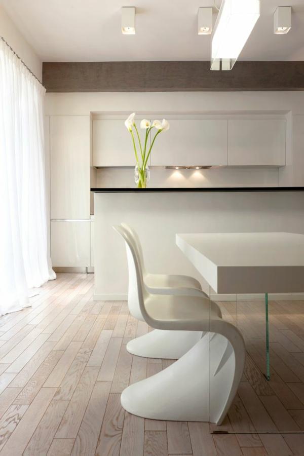 panton chair weiß designer stühle esszimmer skandinavisch einrichten