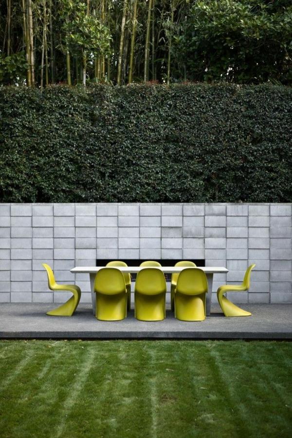 panton chair weiß designer stühle gartenmöbel skandinavisches design